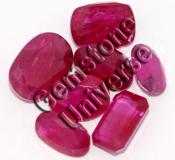Unheated Ruby Lot from Tajikistan acquired by gemstoneuniverse.com