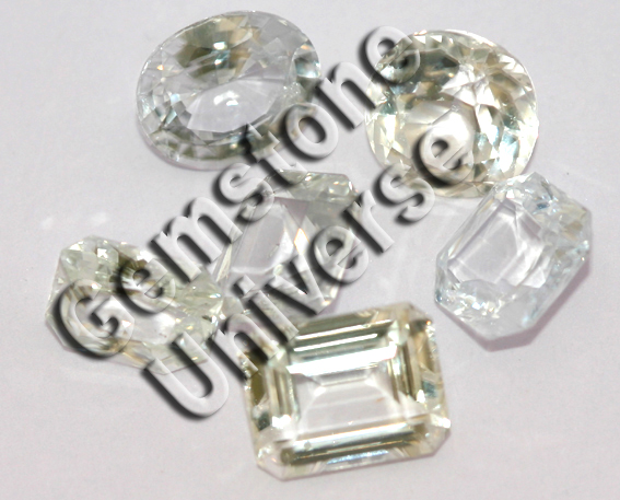 Natural White Sapphire lot that is natural, colourless, top quality white and most importantly unenhanced. Gemstoneuniverse.com