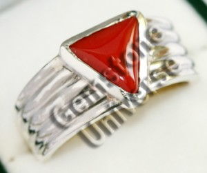 Italian Triangular Red Coral of 3.60 cts Gemstoneuniverse.com. 2905a