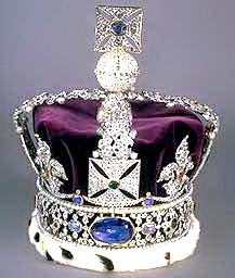 The Legendary Stuart Sapphire mounted on the Imperial State Crown