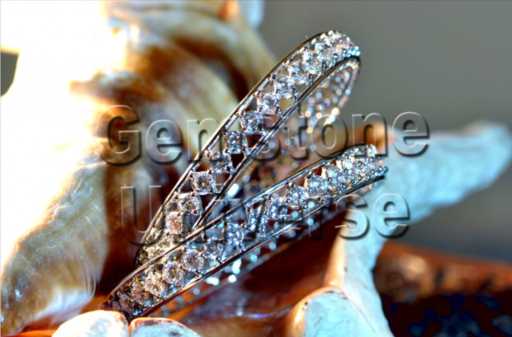 Gorgeous Venus Talisman 78 carats  Diamond Bangles.Gemstoneuniverse.com