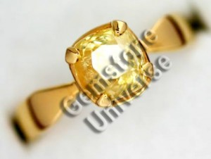 Natural Unheated Ceylon Yellow Sapphire of 2.37 ct Gemstoneuniverse.com Local Inventory Collection No. 2987a