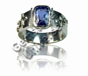 Natural Unheated Blue Sapphire Talisman ring! Gemstoneuniverse.com