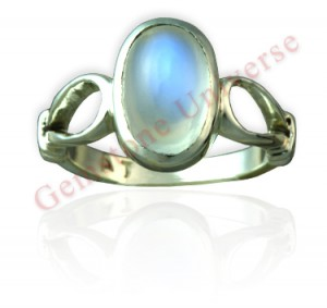 Gemstoneuniverse.com.Heavenly and serene Moon energies even Luna would be pleased. Super Gorgeous Blue Sheen Moonstone set in Sterling silver 925 ladies ring! Watch the mystical phenomena of Adularescence!