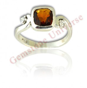 Mystical coiled Serpent-Kundalini Hessonite Garnet ring set in hallmarked sterling silver ring. Feel the energy. Natural Untreated Sri Lankan Hessonite Garnet of 2.42 carats in Kundalini ring!Gemstoneuniverse.com