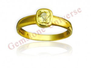 Natural Unheated Ceylon Yellow Saphire of 2.45 carats Gemstoneuniverse.com