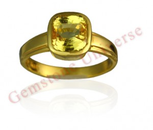 Natural Untreated Ceylon Yellow Saphire of 3.55 carats Gemstoneuniverse.com GU080510355YS
