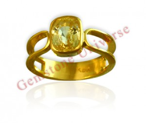 Natural Untreated Ceylonese Yellow Sapphire of 2.82 Carats Gemstoneuniverse.com