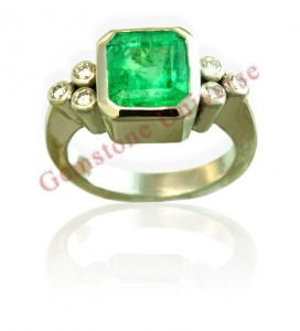 Natural Untreated Colombian Emerald of 1.89 Carats Gemstoneuniverse.com GU070510189EM