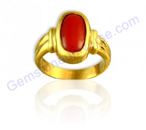 Natural Japanese Red Coral of 4.30 Carats Gemstoneuniverse.com