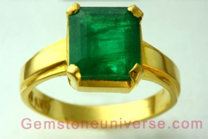 Natural Untreated Brazilian Emerald of 3.09 carats Gemstoneuniverse.com GU0110309EM