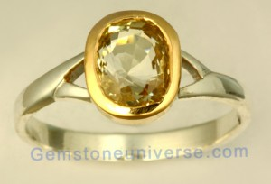 Natural Untreated Ceylon Yellowsapphire of 2.23 carats Gemstoneuniverse.com