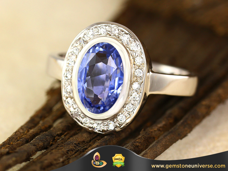 Natural Unheated Ceylon Blue Sapphire of 2.06 cts Gemstoneuniverse.com