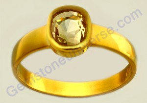Natural Untreated Ceylon Yellow Saphire of 2.55 carats Gemstoneuniverse.com