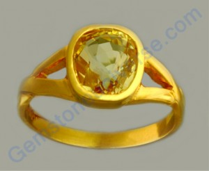 Natural Untreated Ceylon Yellow Saphire of 3.04 carats Gemstoneuniverse.com