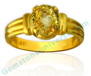 Natural Untreated Ceylon Yellow Saphire of 3.15 carats Gemstoneuniverse.com