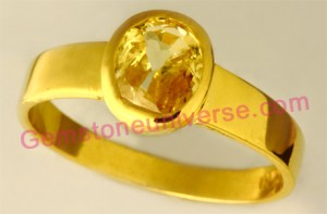 Natural Untreated Ceylon Yellowsapphire of 2.62 carats Gemstoneuniverse.com