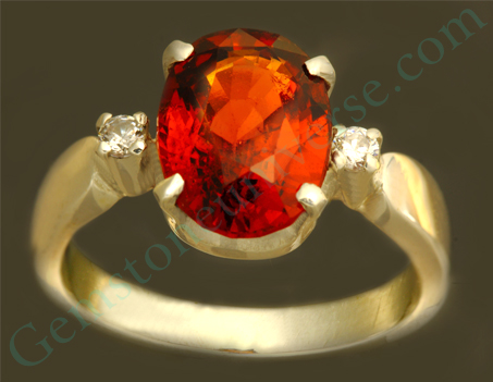 Natural Untreated Ceylonese Hessonite of 3.75 carats Gemstoneuniverse.com