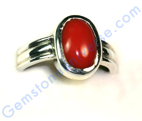 Natural Organic Untreated Red Coral of 4.18 carats Gemstoneuniverse.com