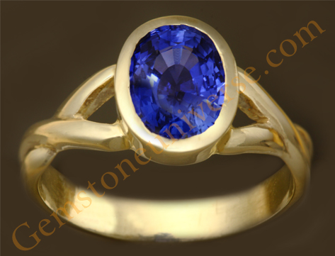 Natural Untreated Blue Sapphire of 2.19 Carats Gemstoneuniverse.com