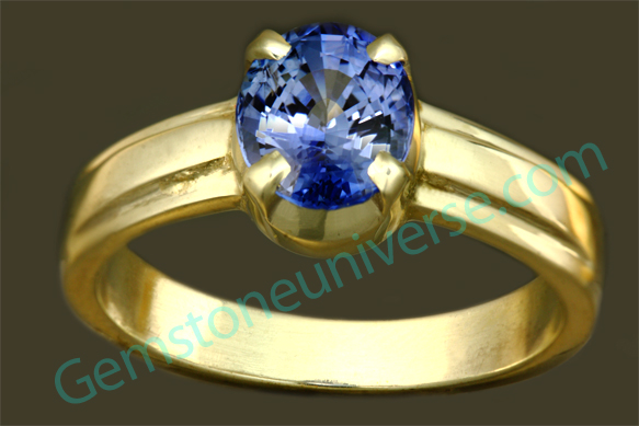 Natural Untreated Blue Sapphire of 2.56 Carats Gemstoneuniverse.com