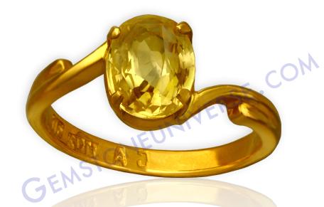 Natural Yellow Sapphire 2.44 carats Gemstoneuniverse.com