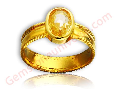 Natural Yellow Sapphire 2.71 carats Gemstoneuniverse.com