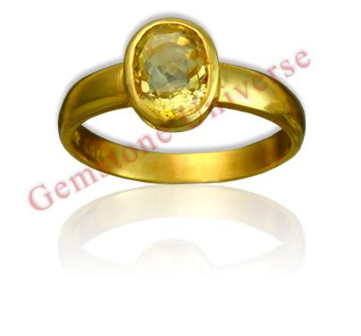 Natural Yellow Sapphire 2.76 carats Gemstoneuniverse.com