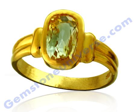 Natural Yellow Sapphire 3.13 carats Gemstoneuniverse.com