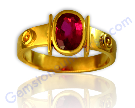 Natural untreated Tajikistan Ruby of 1.55 carats. Gemstoneuniverse.com