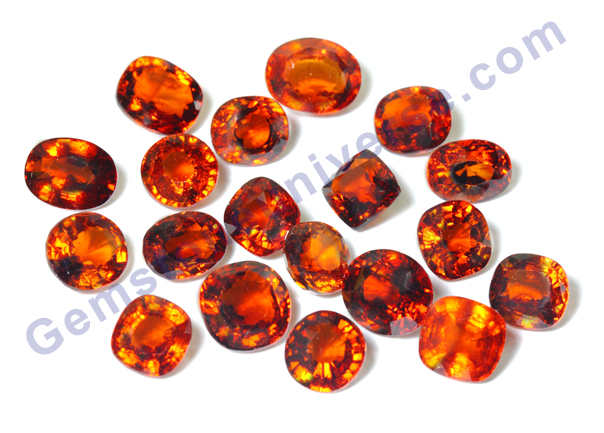 New Lot of Ceylon Hessonites-December 2010.Gemstoneuniverse.com