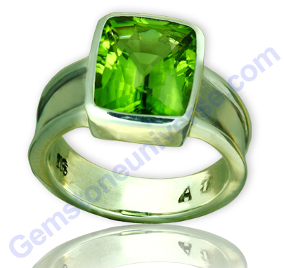 Natural Imperial Burma Peridot of 4.00 carats Gemstoneuniverse.com