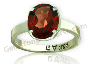 Natural Mozambique Red Garnet of 2.55 carats Gemstoneuniverse.com