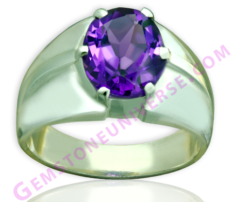 Natural Untreated African Amethyst of 3.70 carats Gemstoneuniverse.com