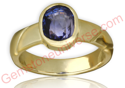 Natural Untreated Blue Sapphire of 3.10 Carats Gemstoneuniverse.com