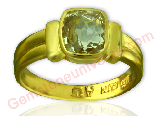 Natural Yellow Sapphire 2.70 carats Gemstoneuniverse.com