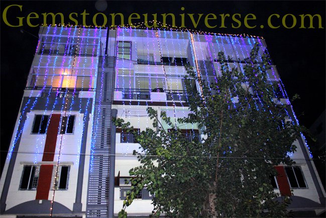 The Gemstoneuniverse building decked up for Diwali-The Festival of Lights