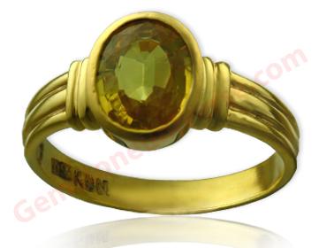 Unheated Yellow Sapphire 3.30 carats.Gemstoneuniverse.com