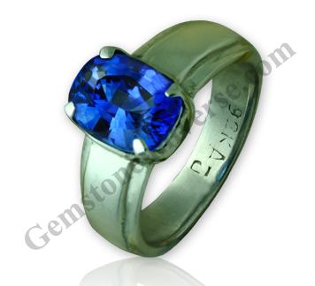 Kashmir Color Blue Sapphire of 3.25 Carats Gemstoneuniverse.com