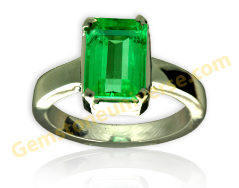 Natural Un-Enhanced Colombian  Emerald 2.35 carats Gemstoneuniverse.com