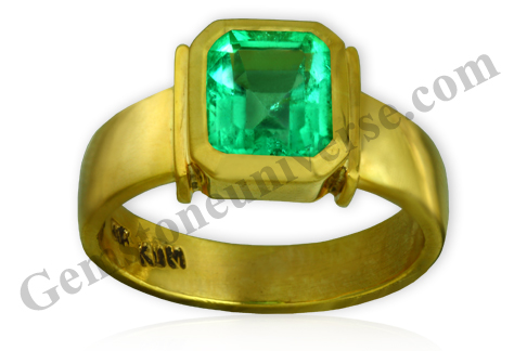 Natural Unenhanced Colombia Emerald 2.30 carats Gemstoneuniverse.com