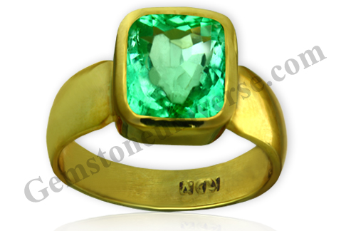 Natural Unenhanced Colombia Emerald 3.45 carats Gemstoneuniverse.com