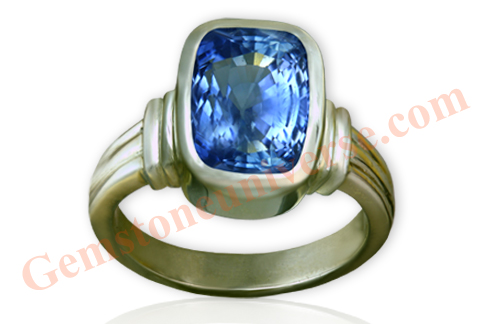 Natural Unheated Blue Sapphire of 7.22 Carats Gemstoneuniverse.com