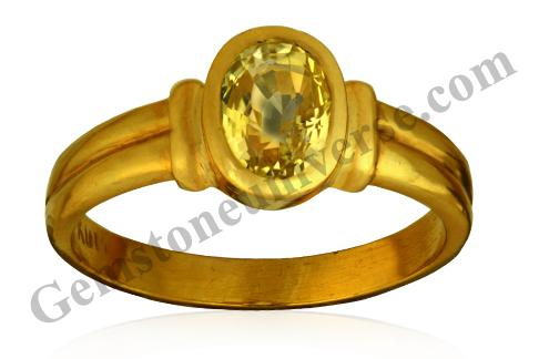 Natural Yellow Sapphire 2.36 carats Gemstoneuniverse.com