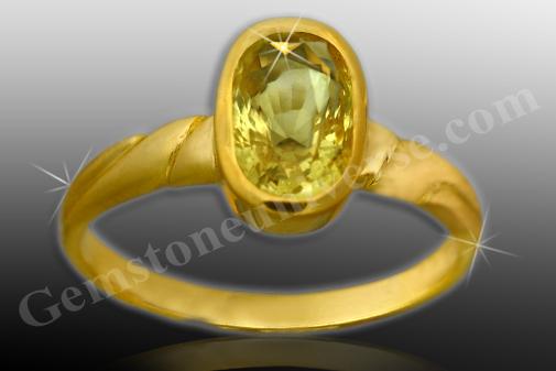Natural Yellow Sapphire Jupiter 2.61 carats Gemstoneuniverse.com