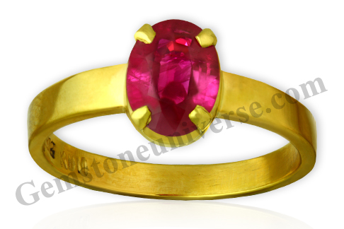Natural untreated Burma Ruby of 2.34 carats. Gemstoneuniverse.com