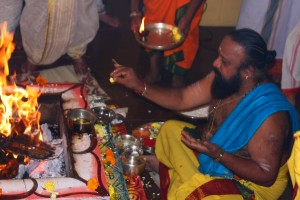 Homa Being performed at our temple Gemstoneuniverse