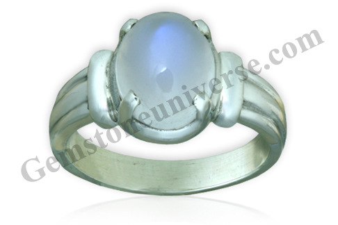 Natural Blue moonstone of 3.40 carats Gemstoneuniverse.com