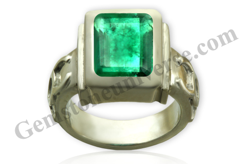 Natural Unenhanced Zambia Emerald 2.96 carats Gemstoneuniverse.com