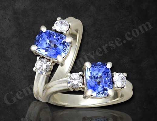 Natural Unheated Blue Sapphire of 2.46 Carats Gemstoneuniverse.com